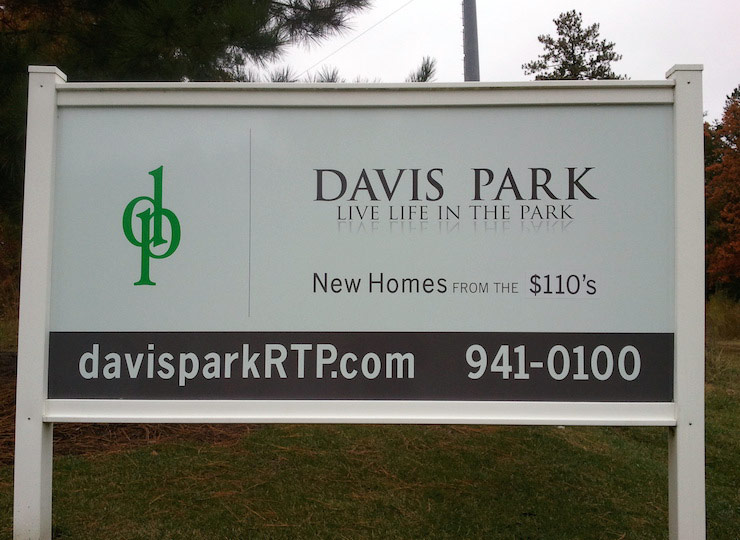 Outdoor Sign mounted raleigh business