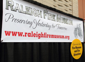 Outdoor Sign banner prongs raleigh