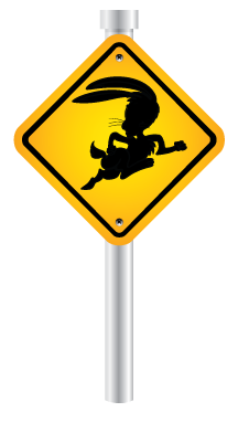 jack rabbit road sign