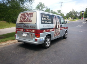 small business Vehicle Wrap raleigh