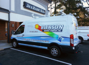 Vehicle Wrap color print business raleigh