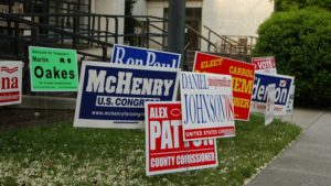 political signs raleigh nc